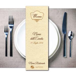 Menu ristorante per eventi personalizzato