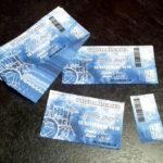 Partecipazione rettangolare biglietto concerto