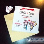 Partecipazioni quadrate Silvia e Luca