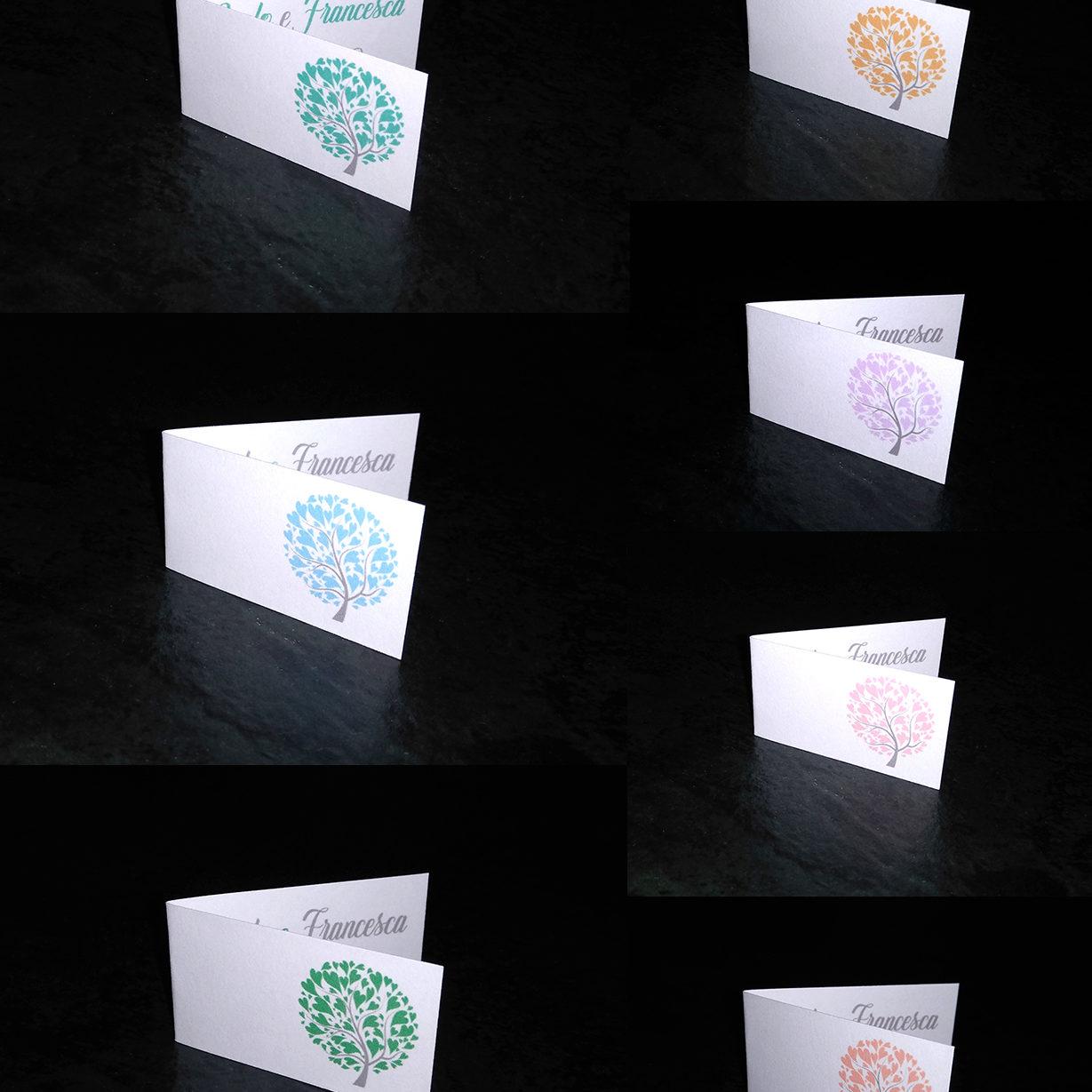 Bigliettini bomboniere albero della vita foto