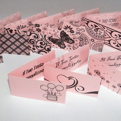 Bigliettini bomboniere rosa chiaro foto