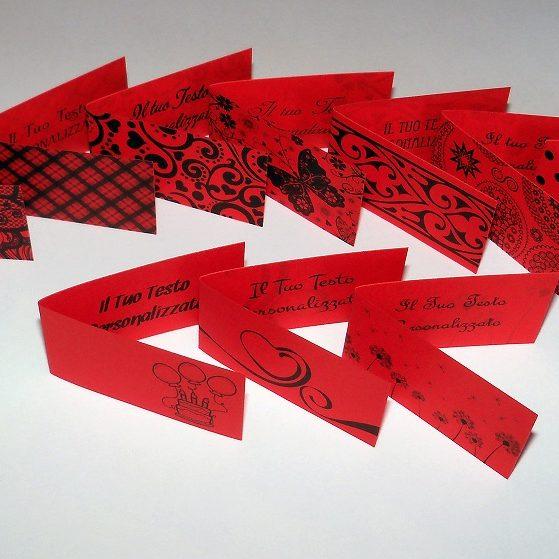Bigliettini bomboniere rosso